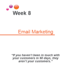 module 8 coversheet email MArketing