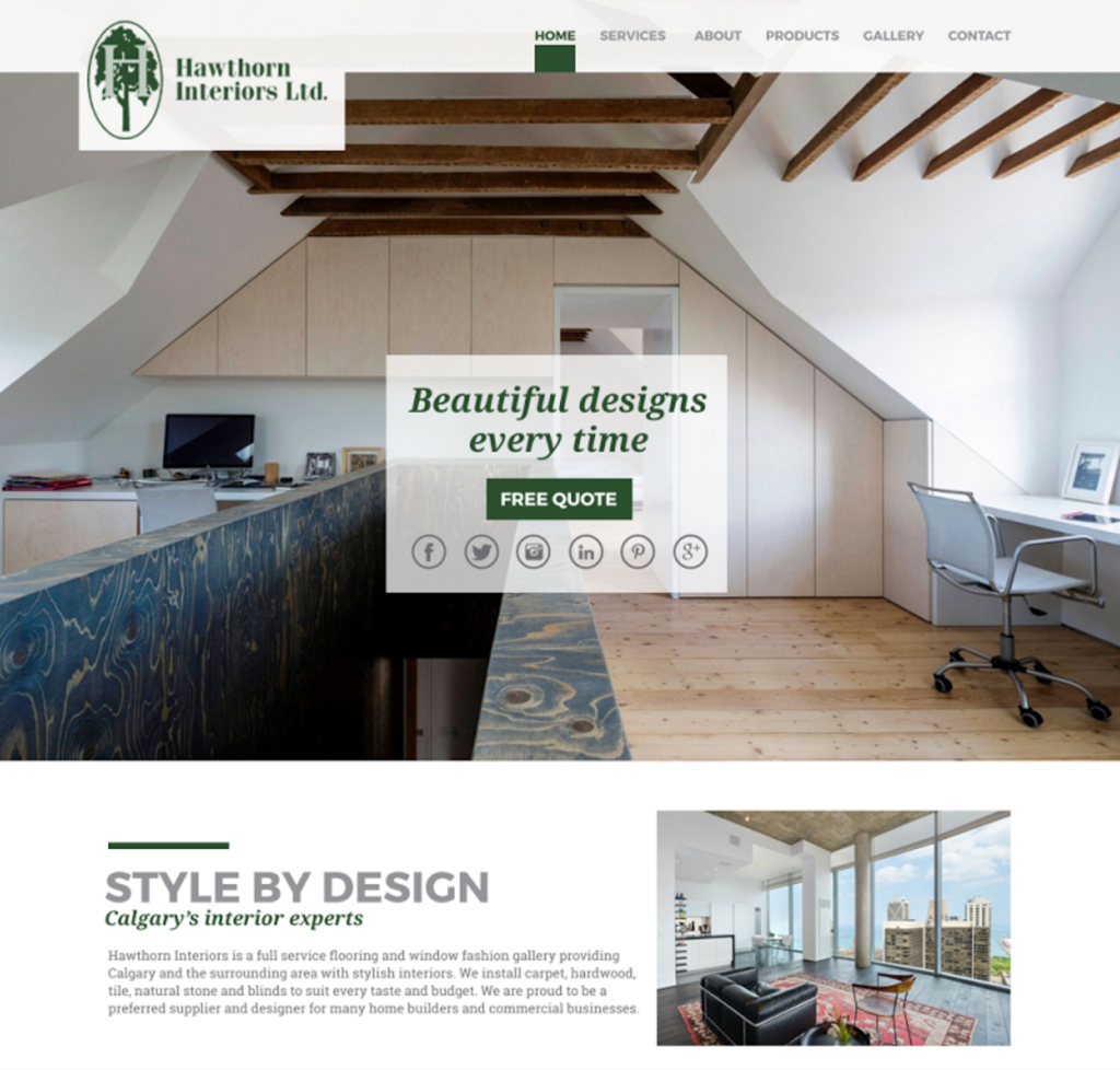 Hawthorn Interiors - Website Launch